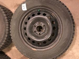 4 almost new winter tires with rims for sale. Edmonton Edmonton Area image 2