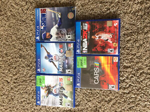 Lot of 5 PS4 Sports Games (NFL, MLB, NBA, Project Cars)