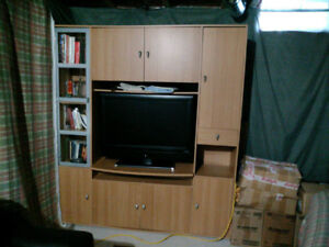 TV storage unit and entertainment set