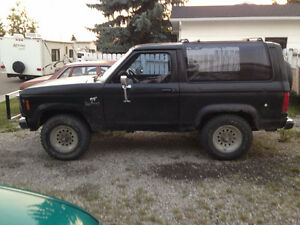 1988 Ford Bronco II red Coupe (2 door)
