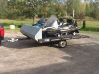 PACKAGE DEAL 2 SLEDS & TRAILER