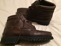Leather Timberland boots uk 8.5