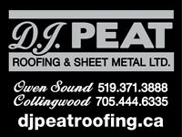 DJ PEAT ROOFING Emergency Service and Repairs