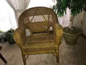 Wicker Chair Kitchener / Waterloo Kitchener Area image 1
