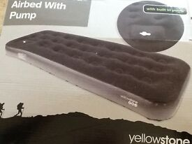 Single airbed with pump - as new