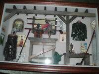 3 dimensional GOLF picture with wood frame
