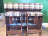 Retro Bar and 2x matching stools for sale $50 or best offer