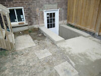 side entrance and window cutting