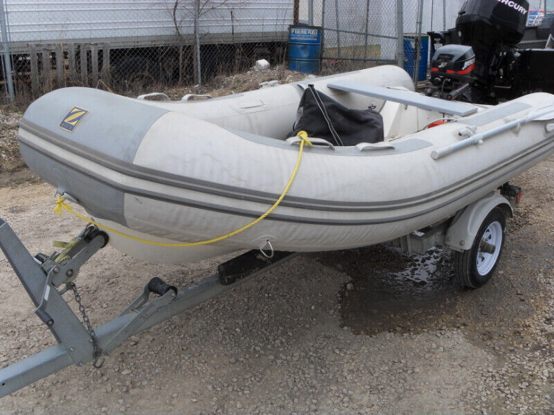 2012 Zodiak 340 Rib hard bottom double pvc | Powerboats & Motorboats |  Winnipeg | Kijiji