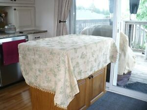 drapes with bed throw