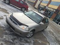 HONDA CIVIC - Low Kms 190000 - fully automatic with remote.