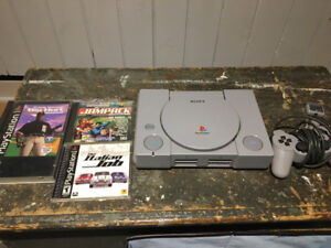 Sony Playstation w/ one controller and 3 games