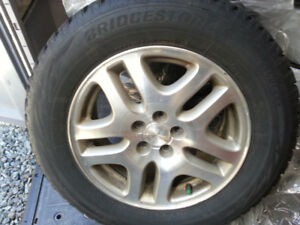 Snow Tires (4), 225/60R16, 8mm depth, (on 03 Subaru Wheels)