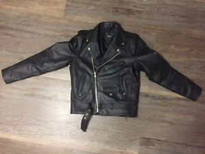 Reclaimed Vintage Inspired Leather Biker Jacket