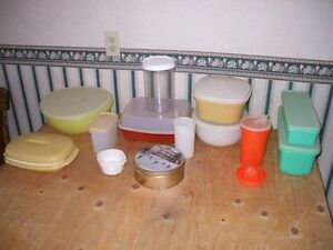 Various sized Tupperware Containers