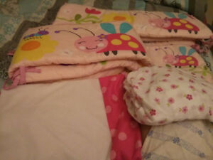 Baby girl crib set gently used all prices included
