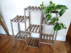 Rustic 7-tiered Plant Stand, can be used outdoors/indoors