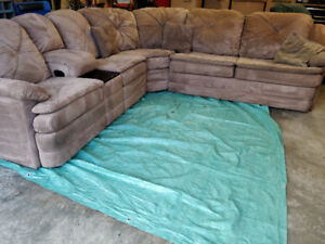 Sectional Couch with pull out bed and two recliners