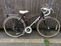 Raleigh ebony ladies racing bike serviced in good condition