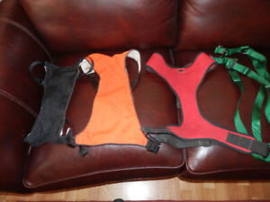 SELECTION OF DOG HARNESSES