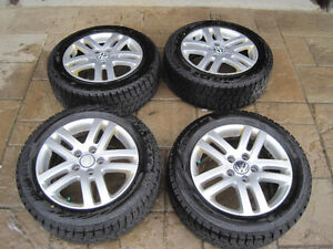 Bridegestone Blizzaks on alloy rims for VW Jetta