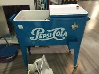 NEW - Retro Cooler with bottle cap opener! Pepsi-Cola Brand