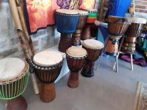 J'achète les djembés  tam-tam conga bongo balafon tabla darbouka