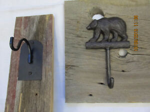 Beautiful cast Iron coat hooks on reclaimed Barnboard Belleville Belleville Area image 5