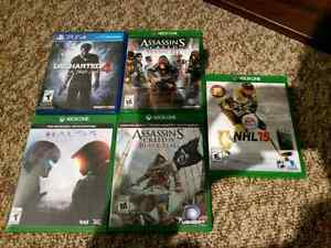 Xbox One and PS4 games for sale