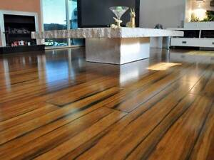 14mm Strand Woven  Solid Bamboo Flooring Click Lock Natural Marrickville Marrickville Area Preview