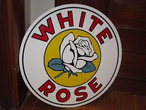 Gorgeous 24 inch WHITE ROSE SIGN