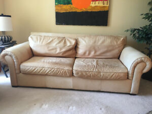 Soft and Comfy, Large Leather Sofa!  Great condition!