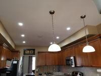 LED Pot light installation