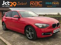 2012 62 BMW 1 SERIES 2.0 116D SPORT FINISHED IN CRIMSON RED WITH EBONY INTERIOR