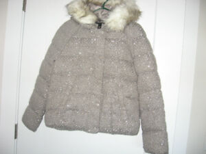 New Victoria Secret Metallic Silver Puffer Jacket