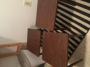 2 small wooden table