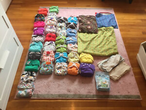 34 cloth diapers for sale