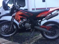 Aprilia rx 50 road legal dirt bike 2008 50cc moped