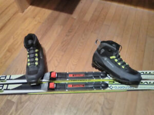 Cross Country Skis with Bindings and Boots.