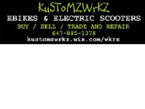 KUSTOMZWRKZ - BUY, SELL, AND REPAIR ALL EBIKE E BIKE SCOOTER