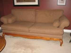 sofa 6ft long with removable back cushions and slip covers