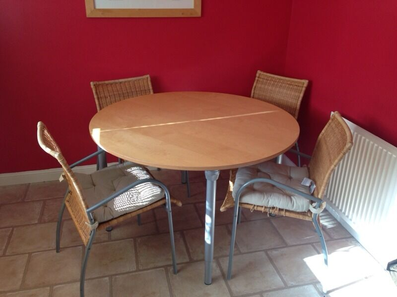 ikea table and 4 chairs united kingdom gumtree