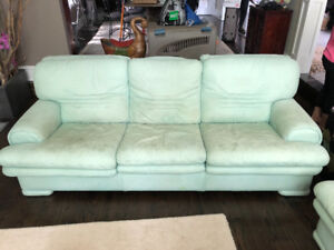 FREE Pair of Leather Couches - 1st Come 1st Serve