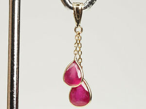 Natural Ruby Pendant. 14K yellow gold. Insurance value $1000