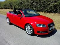 2011 AUDI A3 SPORT CONVERTIBLE 1.8 TFSI , SIX SPEED MANUAL, BRIGHT RED, AIRCON
