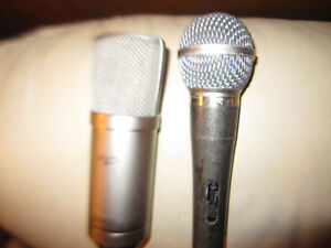 Apex 435 Gold Diaphragm Condenser Microphone and Cardioid Mic