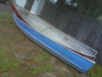 14 ft deep and wide aluminum boat and canoe