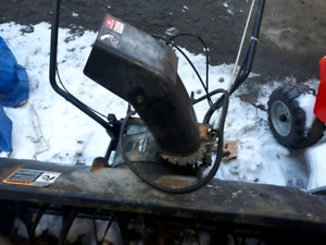 Snowblower, weights and chains