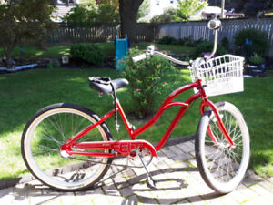 3 speed woman's  Red Bike with accessories