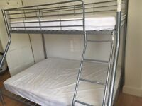 Kids bunk bed double and single with mattresses